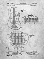 Electric Guitar Patent - Slate Fine-Art Print