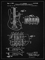 Electric Guitar Patent - Vintage Black Fine-Art Print