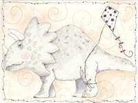 Mr Triceratops Flys a Kite Fine-Art Print