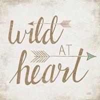 Wild at Heart Beige Framed Print