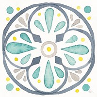 Garden Getaway Tile VI White Fine-Art Print
