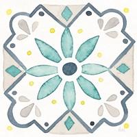Garden Getaway Tile V White Fine-Art Print