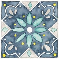 Garden Getaway Tile V Blue Fine-Art Print