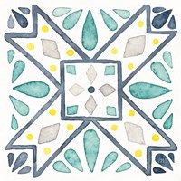 Garden Getaway Tile IX White Fine-Art Print