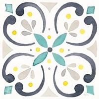 Garden Getaway Tile IV White Fine-Art Print