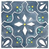 Garden Getaway Tile II Blue Fine-Art Print