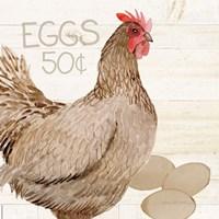 Life on the Farm Chicken III Fine-Art Print