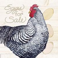 Life on the Farm Chicken I Fine-Art Print