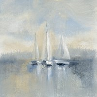 Morning Sail I Blue Fine-Art Print