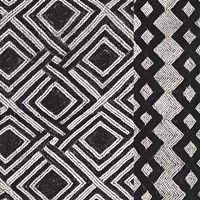 Kuba Cloth Mat III BW Framed Print