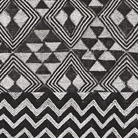 Kuba Cloth Mat II BW Framed Print