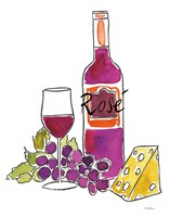 Wine Time III Rose Fine-Art Print