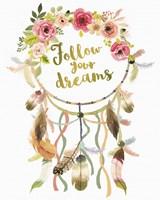 Dreamcatcher Follow Your Dreams Fine-Art Print