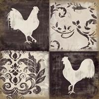 Rooster Silhouette II Fine-Art Print
