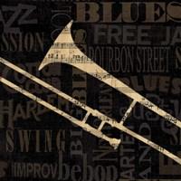 Jazz Improv IV Framed Print