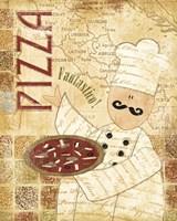 Pizza & Pasta I Fine-Art Print