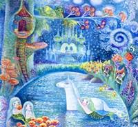 Bathing Of Unicorn Fine-Art Print