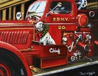 Dalmation Christmas Firetruck Fine-Art Print