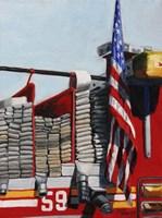 Engine 59 American Flag Fine-Art Print