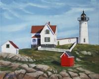 Nubble Light House3 Fine-Art Print