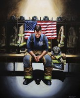 Praying Firefighter Fine-Art Print
