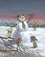 Mr Snow And Friends Fine-Art Print