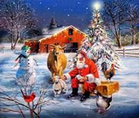 Santa at the Farm Fine-Art Print