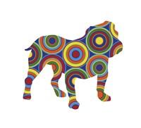 Bulldog Abstract Circles Fine-Art Print
