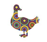 Duck Abstract Circles Fine-Art Print