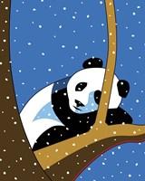 Giant Panda Sleeping In Treee Fine-Art Print