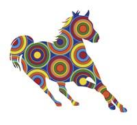 Horse Abstract Circles Fine-Art Print