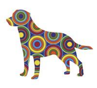 Labrador Abstract Circles Fine-Art Print