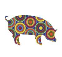 Pig Abstract Circles Fine-Art Print
