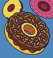 Doughnuts On Blue Fine-Art Print