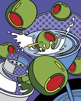 Martini Flying Olives Fine-Art Print