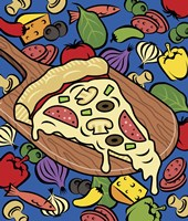 Pizza Slice With Toppings Fine-Art Print