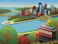 Pittsburgh Incline Autumn Fine-Art Print