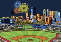 PNC Park Fireworks Pittsburgh Fine-Art Print