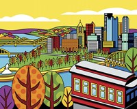 Pittsburgh Incline Autumn Pop Fine-Art Print