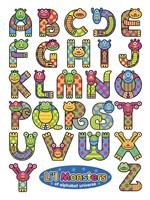 Li'l Monsters of Alphabet Universe Fine-Art Print