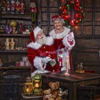 Magic Paint With Mrs Claus Fine-Art Print