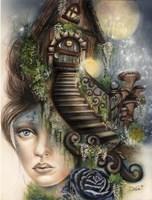 Moonlit Manor Fine-Art Print