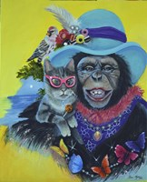 Funky Cat and a New Hat Fine-Art Print