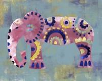 Boho Elephant 4 Framed Print