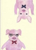 Hipster Pigs Fine-Art Print