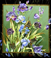 Flowers & Butterflies Fine-Art Print