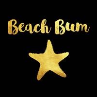 Beach Bum In Black Fine-Art Print