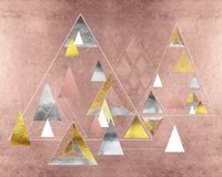 Park Avenue Abstract Geometric Christmas Trees Fine-Art Print