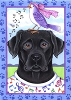 Black Lab Music Lover Fine-Art Print