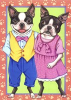 Boston Terrier Couple Fine-Art Print